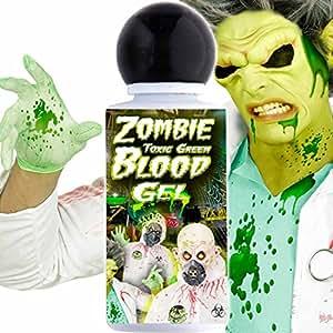 Faux Sang Artificiel Maquillage Gel Sanguin Vert Zombie Raisiné Film Halloween Sang Extraterrestre Martien Déguisement Zombie