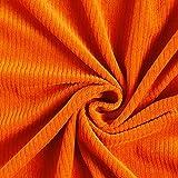 Bio Cord Nicki Stoff GOTS | Hamburger Liebe - orange -