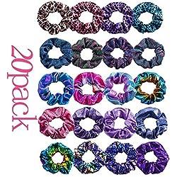 HY-Angel 20 Pcs Cheveux Chouchous Velours Élastique Bandes De Cheveux Chien Cheveux Cravates Cordes Chouchou pour Femmes ou Filles Accessoires De Cheveux