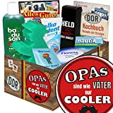 Opas sind wie Väter nur cooler | Pflegeset | Geschenk Set | Opas sind wie Väter nur cooler | Pflegebox | Geschenk für Opa zum Geburtstag | Geschenk bester Opa | GRATIS DDR Kochbuch