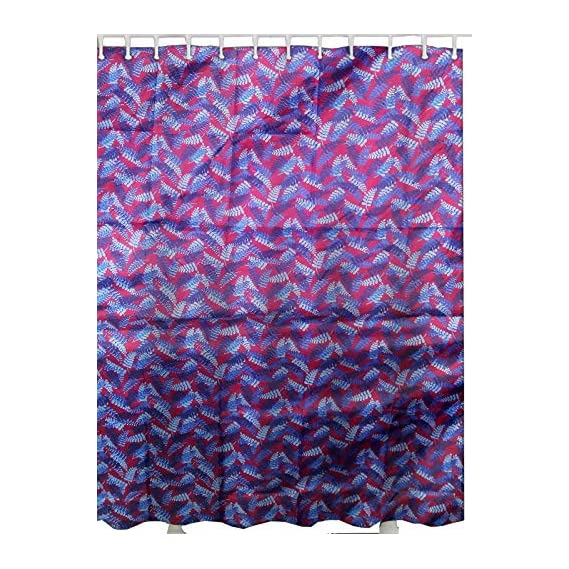 Active Elements Printed Shower Curtain Full Size (60 x 72) with Rust Proof Eyelet's 100% Water Proof. Fulll Size