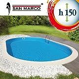 San Marco Piscina ovale interrata 1100x550x150 cm