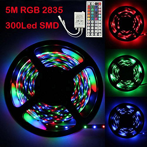 Logobeing Tira LED Luz 5m RGB 2835 300 LED SMD Flexible