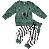 Xuefoo Conjunto de Ropa para recién Nacidos, bebés, niños y niñas, Camiseta de Manga Larga con Estampado de Oso, Tops, Pantal