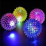 LED FLASHING BOUNCE-SPIKE BALL