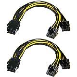 Grafische kaart kabel, 8-pins naar 8-pins PCIe-adapterstroomkabel, 2-pack 8-pins naar dual-PCIe-8-pins (6+2) grafische kaart