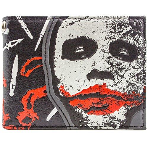 DC Dark Knight Joker Warum so ernst Schwarz Portemonnaie Geldbörse