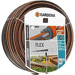 """Tuyau Comfort FLEX de GARDENA 19 mm (3/4""""), 50 m: tuyau d'arrosage flexible et indéformable avec profilé Power-Grip, résistance à l'éclatement de 25 bars, sans pièces du système (18055-20)"""