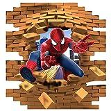 Avengers Marvel 3d stein Kinder-Lieblings-Charaktere 70cm Wandtattoo, Vinyl, Motiv: Wandkunst, Customise4U™ (3d spiderman brick)