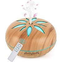 GeeRic Diffuseur d'Huile Essentielle 550ml, Humidificateur d'air Ultrasonique Brume Arôme Parfum Electrique avec…