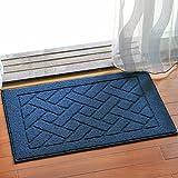 Wjsw Super Weicher Hochflor Saugfähig Antirutschmatte Teppich,Bodenheizung Innen und Außen Eingang Fußmatte,Anwendbar auf 45 * 70Cm Zu 50 * 110 cm Bereich,Blue,50 * 110Cm