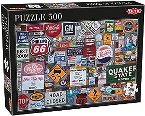 Tactic Logos 500 pcs Puzzle - Rompecabezas (Puzzle Rompecabezas, Arte, Niños y Adultos, Niño/niña, 8 año(s), 680 mm)