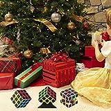 Cubo, Cube Magico 3x3 Adesivo in Fibra di Carbonio per Maggiore Rapidità e Precisione Puzzle Game e Regalo di Festa VOOKI