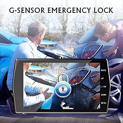 DashcamTinMiu-Autokamera-4-Zoll-LCD-Full-HD-1080P-170-Weitwinkelobjektiv-mit-G-SensorNachtsichtWDR-Loop-Aufnahme-BewegungserkennungParkmonitorSD-Karte-Nicht-enthalten