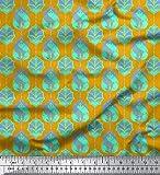 Soimoi Gold modaler Satin Stoff marokkanisch Damast Stoff