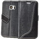elephones Samsung Galaxy S5 Hülle - Schutzhülle Handyhülle für Galaxy S5 Neo - Handy Tasche Wallet Case Cover Grau