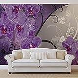 Blumen Blumen - Forwall - Fototapete - Tapete - Fotomural - Mural Wandbild - (1280WM) - XXXL - 416cm x 254cm - VLIES (EasyInstall) - 4 Pieces