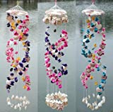 #8: Paradigm Originals Sea Shell colorful Wind Chimes for balcony hangings Home Positive Energy Room Bedroom (Assorted Color 1 Piece) (Rain Drop Sound) (XL Lenght)