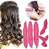 Bigodini per Capelli, HailiCare 30 Pcs Rullo di Capelli Flessibili in Spugna Morbida DIY Acconciatura Capelli Hair Curlers Strumento di Capelli a Casa Rosa
