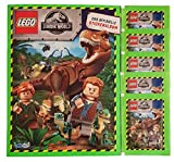 Blue Ocean Jurassic World Lego Sticker Serie 2019 Leeralbum + 5 Stickertüten -
