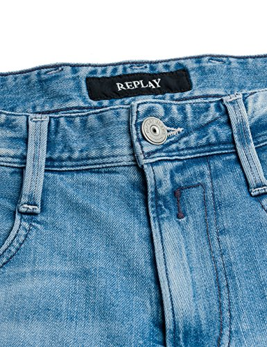 Replay Anbass, Jeans Homme Bleu (Blue Denim)