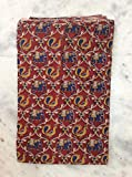 #7: 2.5 meters Red Kalamkari Cotton fabric unstiched