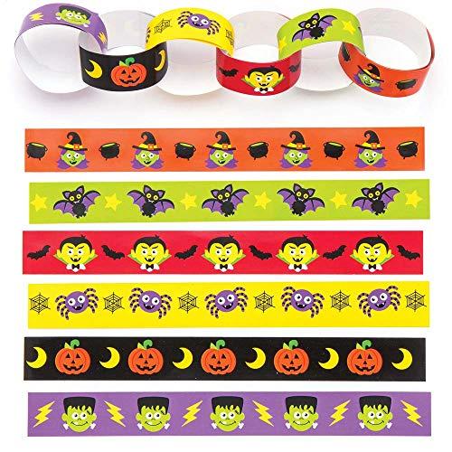 """(Baker Ross Papierketten """"Halloween"""" für Kinder – für Weihnachtliche Bastelarbeiten und Dekorationen (240 Stück))"""