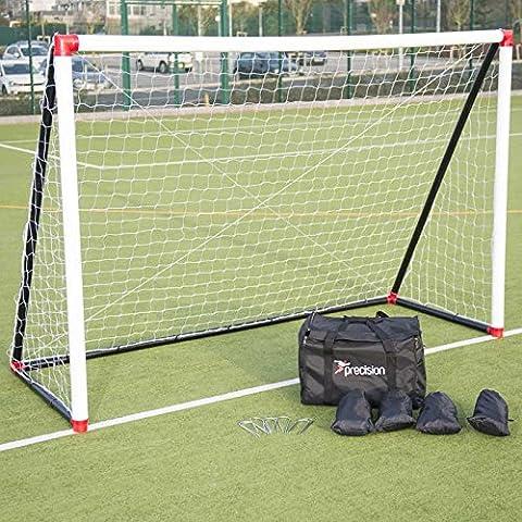 Precision Futsal Portería de hinchable de 3M x 2m con Red y anclajes de RRP £280