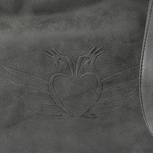 Fritzi aus Preußen Svea Vintage Borsa a mano 33 cm black1