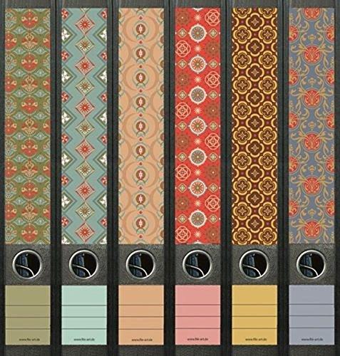 File Art AJ607 Design Etiketten Ordnerrückenschilder