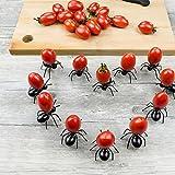 Upxiang 12PC Kreative Food Fork Frucht Gabel, Ameisen Obst Gabeln Multifunktions Geschirr Snack Kuchen Dessert Gabeln, Maiskolbenhalter Grillzubehör Für Party