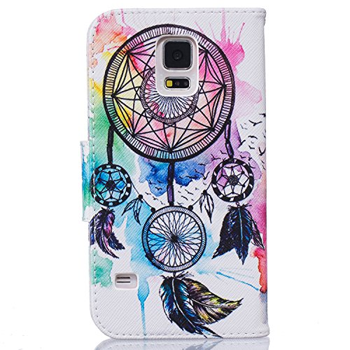 iPhone 7 Custodia a portafoglio, iPhone 7 Custodia Premium, Tebeyy Fiore Animal Cartoon Pattern PU Custodia Portafoglio in pelle [chiusura magnetica] con Card Slot per Apple Iphone 7, Cavalletto, Port Colorful Dreamcatcher