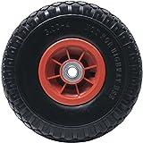 """WERKA PRO - 11105 - Roue Increvable 10"""" - Diam 260 x 85 mm - Alésage 16 mm - Avec Axe Central - Pour Brouette ou Remorque Jar"""