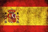 Länder Fahne - Spanien- National Flagge Spain schild aus blech, , retro