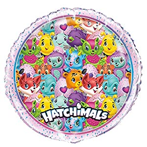 Unique Party 59317 - Globo de papel de aluminio Hatchimals, 45,7 cm