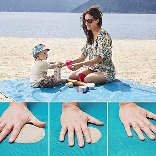 GeschenkIdeen.Haus - Sandfreie Strandmatte/Picknickdecke die Sand, Schmutz & Staub abweist