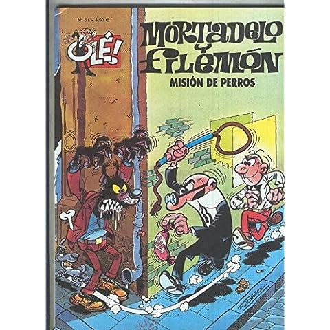 Mortadelo y Filemon OLE numero 051 Mision de perros (numerado 6 en interior cubierta)