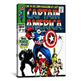 iCanvasART Marvel Comic Captain America Issue Bezug, 100, 30,5x 1,9x 20,3cm, 26 by 18-Inch