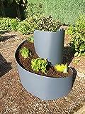 NOOR Kräuterspirale aus PP 80cm x Ø 80 cm anthrazit Gartendeko 420 Liter Blumenkasten Blumenspirale Anzucht