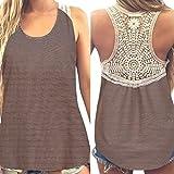 MRULIC Damen Sommer Kurzarm T-Shirt V-Ausschnitt mit Schnürung Vorne Oberteil Tops Bluse Shirt (M, Z-Z-Khaki)