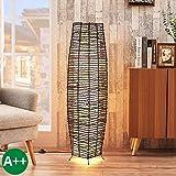 Lampenwelt Stehlampe 'Gion' (Modern) in Braun aus Holz u.a. für Wohnzimmer & Esszimmer (3 flammig, E14, A++) - Stehleuchte, Standleuchte, Floor Lamp, Wohnzimmerlampe, Wohnzimmerlampe