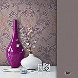 NEWROOM Barocktapete Tapete Braun Ornament Barock Vliestapete Vlies moderne Design Optik Barocktapete Wohnzimmer Floral inkl. Tapezier Ratgeber