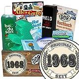 Original seit 1968 | Pflegeset Geschenk | Pflege Set | Original seit 1968 | Pflegebox | Geschenk Mann | Geschenke zum 50 Geburtstag für Mama | GRATIS DDR Kochbuch