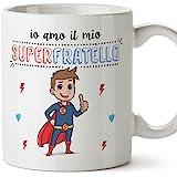 Mugffins Fratello Tazza/Mug - Io Amo Il Mio Super Fratello - Idea Regalo Originale di Compleanno - Tazza Miglior Fratello in