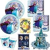 Die Eiskönigin Anna & Elsa Ice Skating 85 Teile Teller Becher Servietten Muffin-Set Cupcake-Set