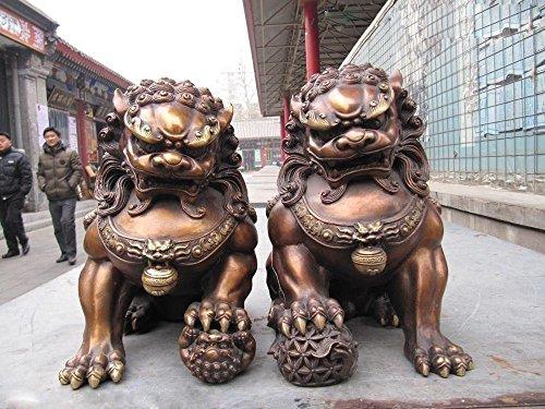 YUNHAO - Par Figuras Chinas clásicas Cobre Bronce