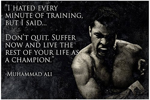 100yellow Posters4u - Poster Motivational Quotes, Poster Inspirational Quotes, Posters for Startups, Cassius Clay Poster, muhammad ali Poster, boxing Poster  available at amazon for Rs.135