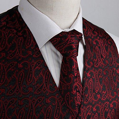 EGD2B.02 motif cachemire microfibre No?l Gilet cravate Set par Epoint EGD2B06A-Rouge