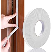 amiciCare Dust and Noise Insulating Form Self-Adhesive Doors; Windows Rubber Gap Sealing Tape; 3mm Thick and 20m Long…