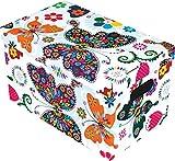 Ordnungsbox Dekobox aus Karton mit Deckel Motiv Schmetterlinge klein 30 x 18 x 19 cm